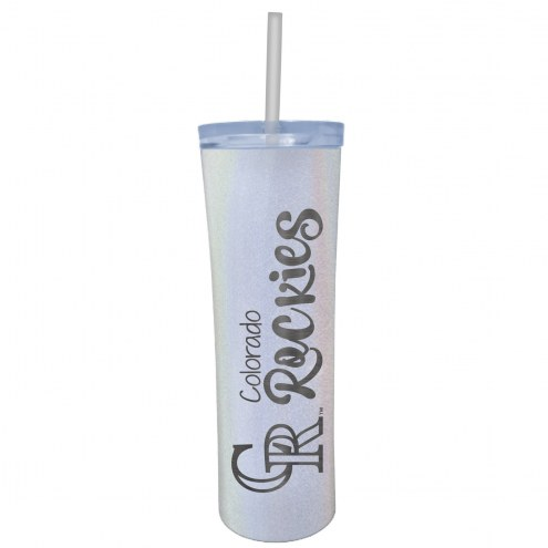 Colorado Rockies 18 oz. Opal Skinny Tumbler