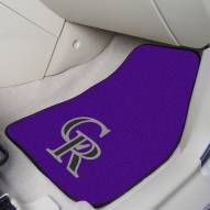 Colorado Rockies 2-Piece Carpet Car Mats