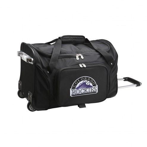 "Colorado Rockies 22"" Rolling Duffle Bag"