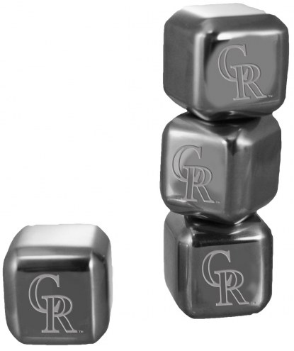 Colorado Rockies 6 Pack Stainless Steel Ice Cube Set