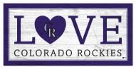 """Colorado Rockies 6"""" x 12"""" Love Sign"""