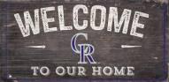 "Colorado Rockies 6"" x 12"" Welcome Sign"