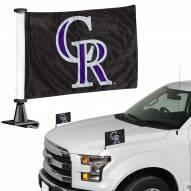 Colorado Rockies Ambassador Hood & Trunk Car Flag