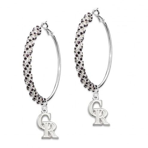 Colorado Rockies Amped Logo Crystal Earrings