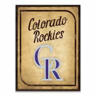 Colorado Rockies Vintage Card Printed Canvas
