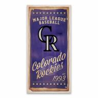 Colorado Rockies Watercolor Printed Canvas