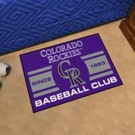 Colorado Rockies Baseball Club Starter Rug