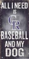 Colorado Rockies Baseball & My Dog Sign