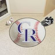 Colorado Rockies Baseball Rug