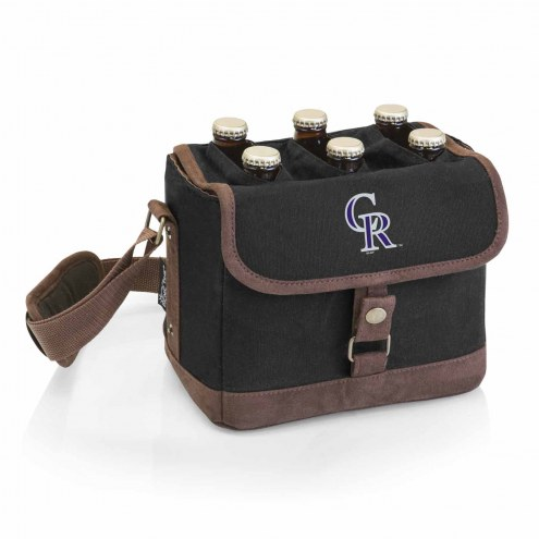 Colorado Rockies Beer Caddy Cooler Tote with Opener
