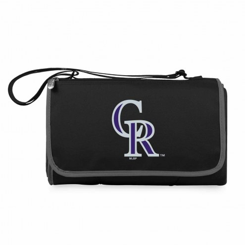 Colorado Rockies Black Blanket Tote