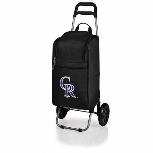 Colorado Rockies Black Cart Cooler