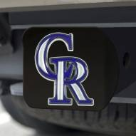 Colorado Rockies Black Color Hitch Cover
