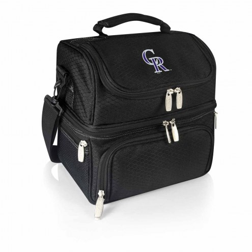 Colorado Rockies Black Pranzo Insulated Lunch Box