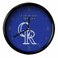 Colorado Rockies Black Rim Clock