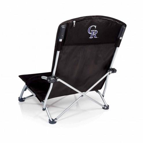 Colorado Rockies Black Tranquility Beach Chair