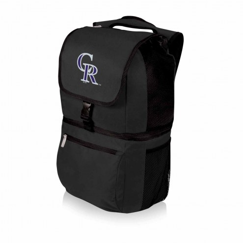 Colorado Rockies Black Zuma Cooler Backpack