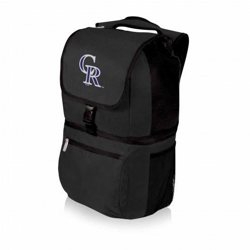 Colorado Rockies Black Zuma Cooler Backpack