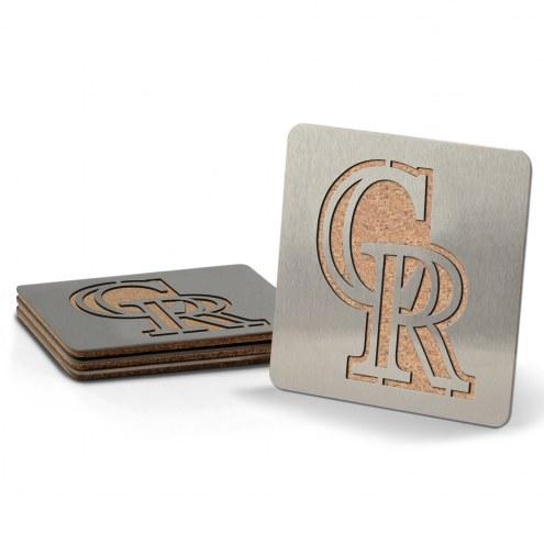 Colorado Rockies Boasters Stainless Steel Coasters - Set of 4