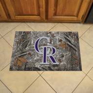 Colorado Rockies Camo Scraper Door Mat