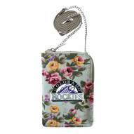 Colorado Rockies Canvas Floral Smart Purse