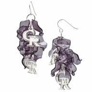 Colorado Rockies Celebration Dangle Earrings