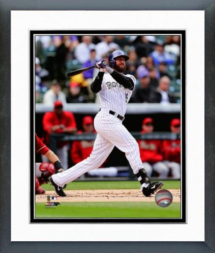 Colorado Rockies Charlie Blackmon Action Framed Photo