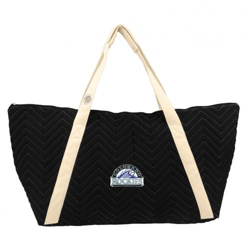 Colorado Rockies Chevron Stitch Weekender Bag
