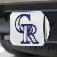 Colorado Rockies Chrome Color Hitch Cover