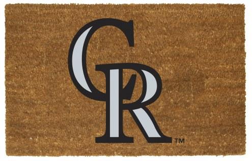 Colorado Rockies Colored Logo Door Mat