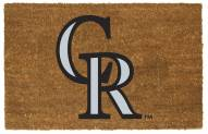 Colorado Rockies Colored Logo Door Mat