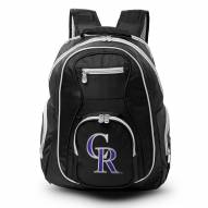 MLB Colorado Rockies Colored Trim Premium Laptop Backpack