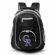 MLB Colorado Rockies Colored Trim Premium Laptop Backpack