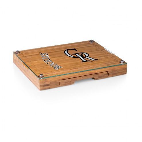 Colorado Rockies Concerto Bamboo Cutting Board