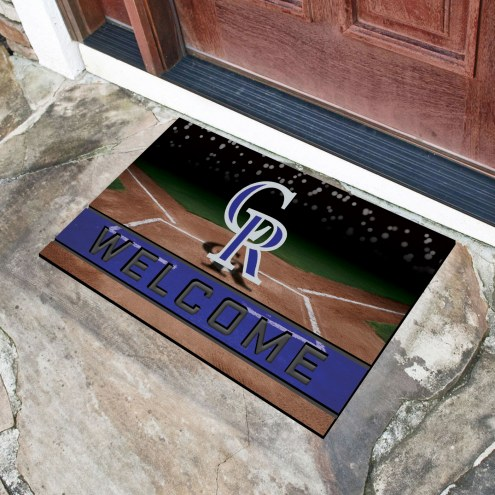 Colorado Rockies Crumb Rubber Door Mat