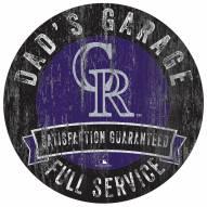 Colorado Rockies Dad's Garage Sign
