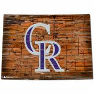 Colorado Rockies Distressed State with Logo Sign