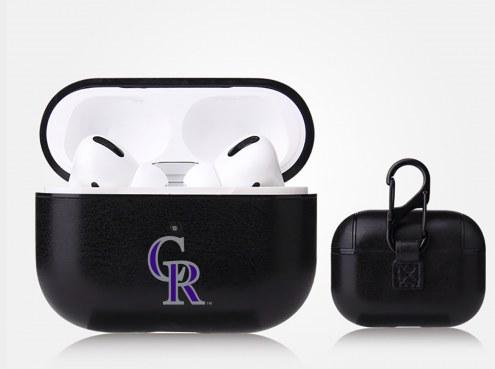 Colorado Rockies Fan Brander Apple Air Pod Pro Leather Case