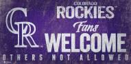 Colorado Rockies Fans Welcome Sign