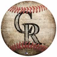 Colorado Rockies Baseball Shaped Sign