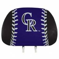 Colorado Rockies Full Print Headrest Covers
