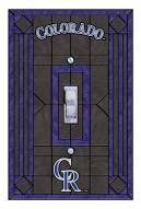 Colorado Rockies Glass Single Light Switch Plate Cover