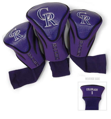 Colorado Rockies Golf Headcovers - 3 Pack