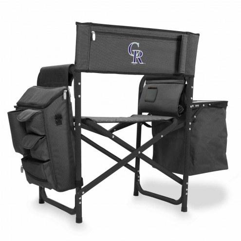 Colorado Rockies Gray/Black Fusion Folding Chair
