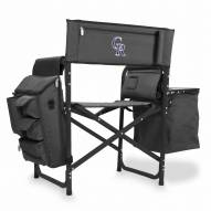 Colorado Rockies Gray/Black Fusion Folding Chair