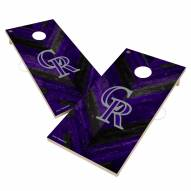 Colorado Rockies Herringbone Cornhole Game Set