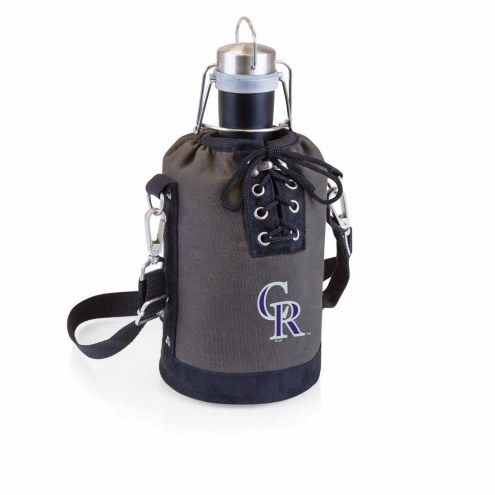 Colorado Rockies Insulated Growler Tote with 64 oz. Stainless Steel Growler