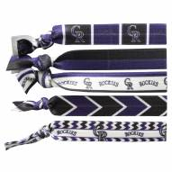 Colorado Rockies Knotted Hair Tie