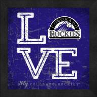 Colorado Rockies Love My Team Color Wall Decor