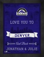 Colorado Rockies Love You to and Back Framed Print